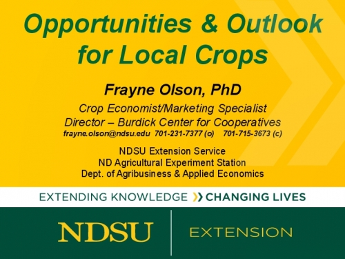 Opportunities & Outlook for Local Crops preview